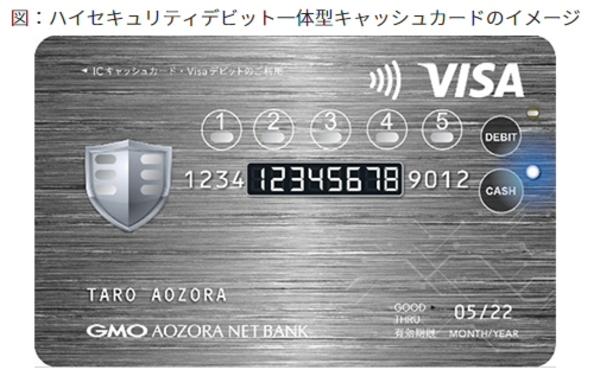 ハイセキュリティのデビット一体型キャッシュカード