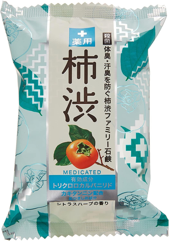ペリカン石鹸 薬用ファミリー 柿渋石けん 80g × 2個