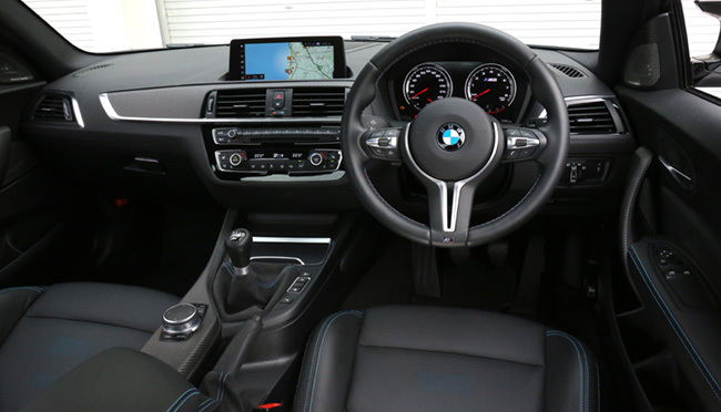 BMW・M2コンペティションのインパネ