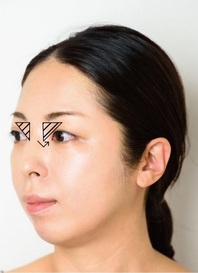 【大人の激変ヘアメイク】<br />日本人的平面顔を<br />彫りの深いメリハリ顔に<br />見せる神テク