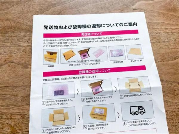 「Rakuten Mini」の梱包方法