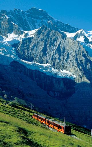 【スイス】ユングフラウ鉄道<br />ハイジの世界を走って100年