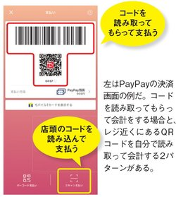 PayPayの読み取り画面