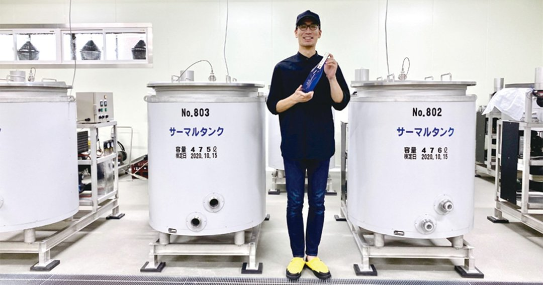 杜氏の荻原亮輔さん。身長190cm
