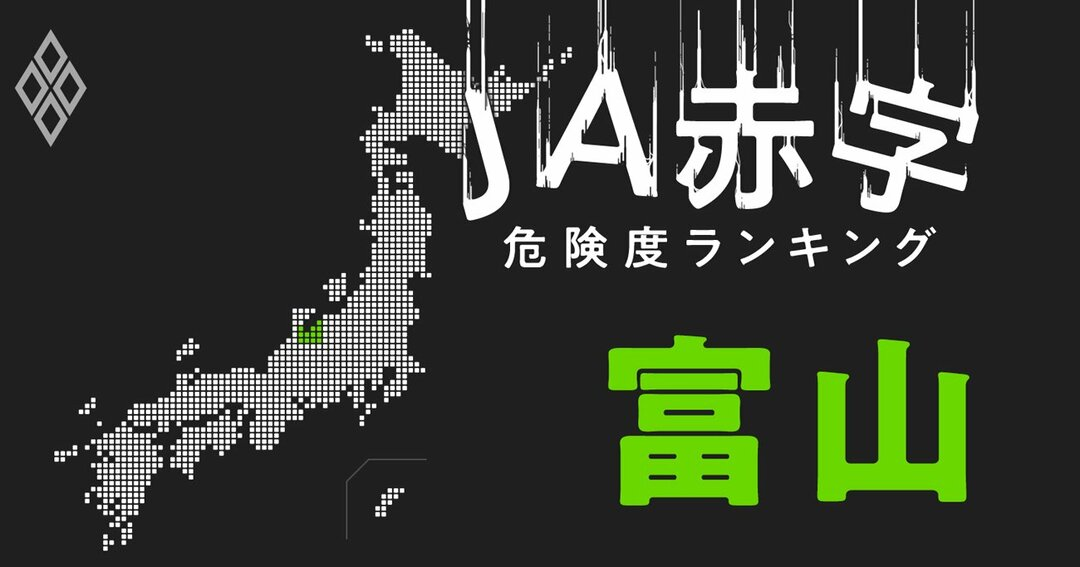 JA赤字危険度ランキング#富山