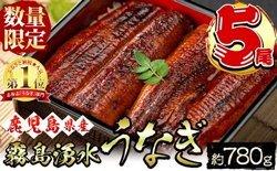 霧島湧水鰻 蒲焼 5尾