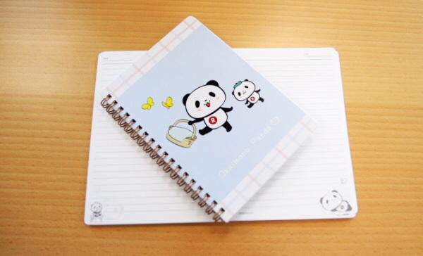 500ポイントで交換できる「リングノート(B6ワイド) ~ピクニックシリーズ~(お買い物パンダ)」