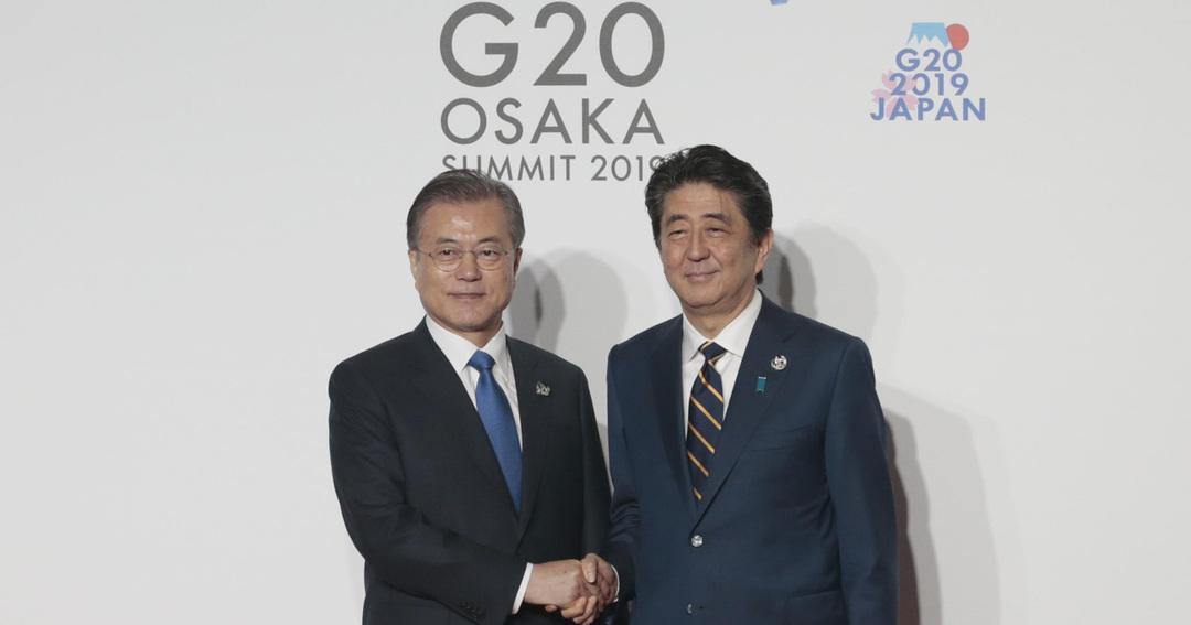G20 安倍首相と文在寅大統領