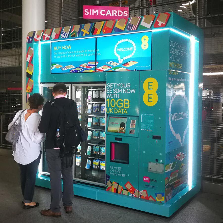 ヨーロッパ各国で使えるロンドン・ヒースロー空港のプリペイドSIM自販機最新情報