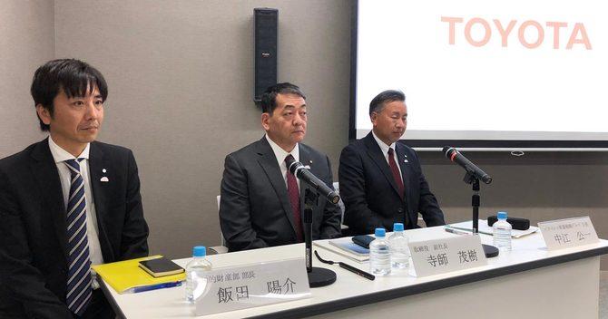 4月8日、トヨタ東京本社で実施された報道陣との意見交換の様子