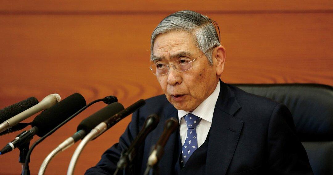 1月21日、記者会見に臨んだ 日本銀行の黒田東彦総裁