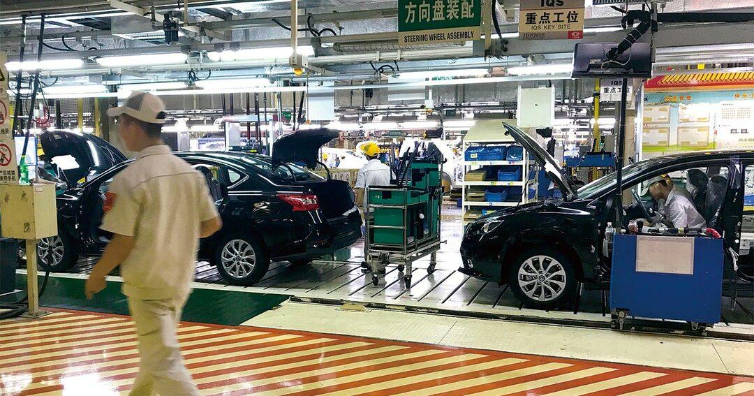 東風日産の中国工場