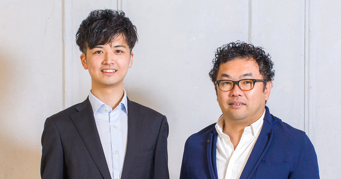 Gracia代表取締役CEOの斎藤拓泰氏(左)とグロービス・キャピタル・パートナーズ代表パートナーの⾼宮慎⼀氏(右)