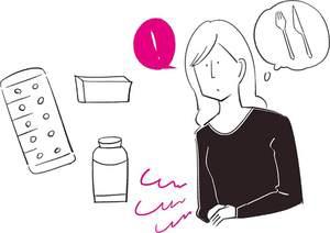 頭痛薬の服用タイミングは、<br />片頭痛の人は異常な空腹感や生あくび