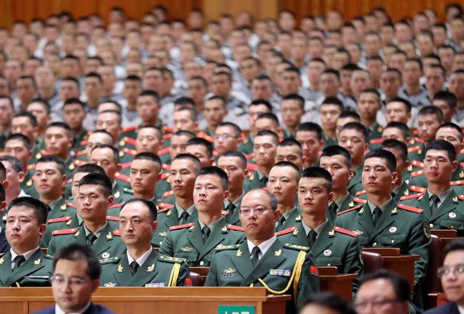 2017年8月に開催された中国人民解放軍建軍90周年記念式典