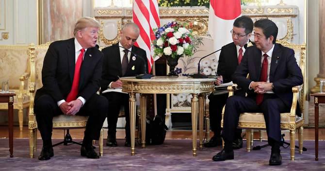 安倍晋三首相とトランプ米大統領