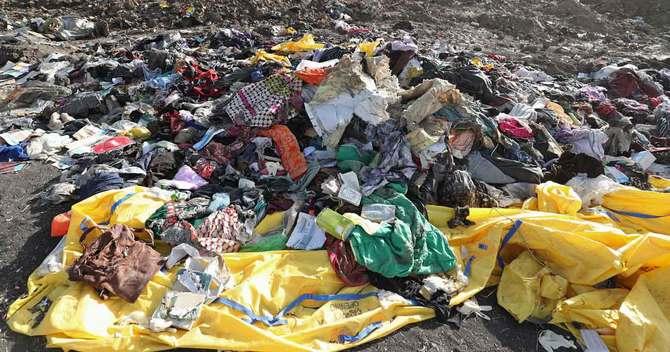 エチオピアのビショフツ近郊の墜落現場
