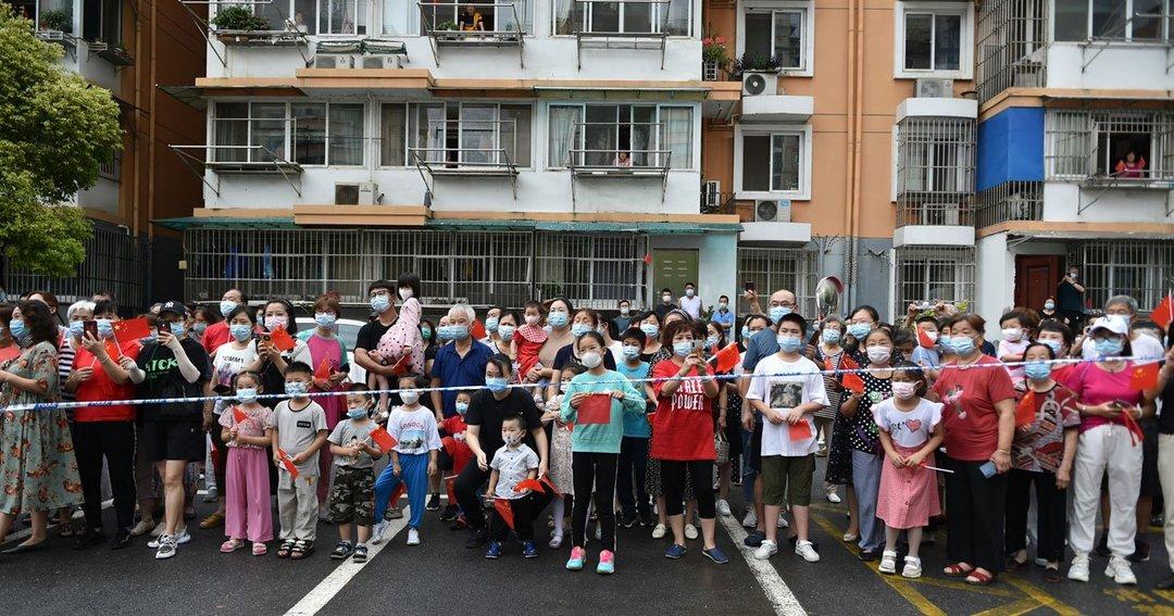 中国でロックダウンされた住宅街