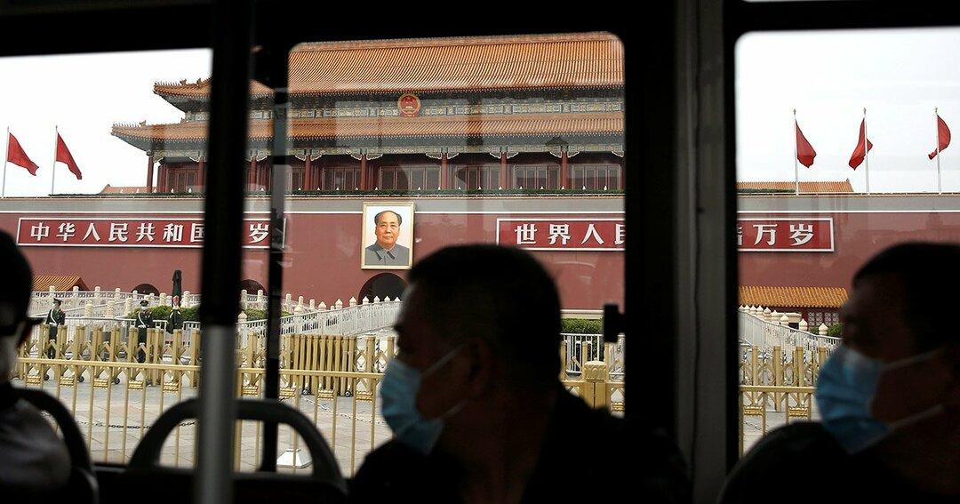 北京のバス車内