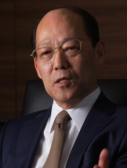 三井造船社長 田中孝雄 <br />将来の成長エンジンは「海洋分野」
