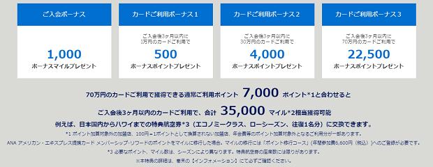 ANAアメックスで最大3万5000マイルがもらえるキャンペーンを実施中1
