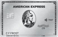 「アメリカン・エキスプレス・プラチナ・カード」のカードフェイス