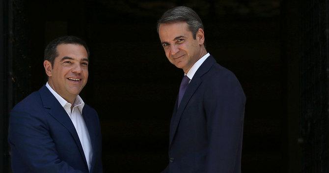 ミツォタキス新首相とツィプラス前首相