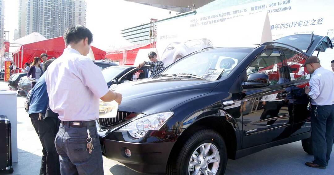 中国の自動車販売
