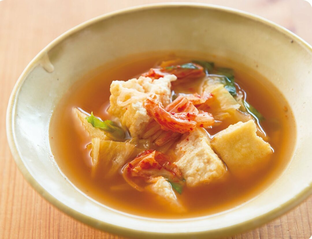 食欲の秋、でも太りたくない!<br />腸内環境を整えて代謝が上がる<br />キムチの長寿スープとは?