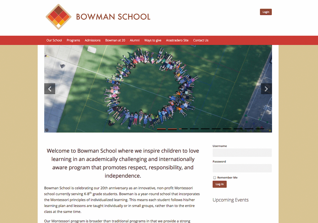 Bowman Schoolは、理想の教育を追求した10人の親たちが1995年に設立した。