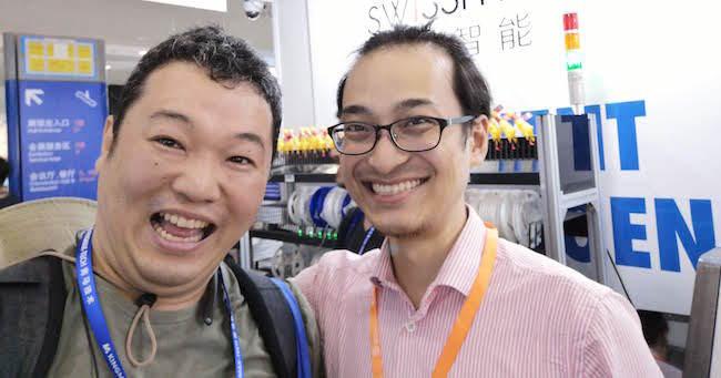 筆者とBenjamin Zhai氏