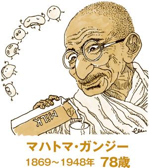 ガンジーの菜食主義に見る必要最低限の食生活