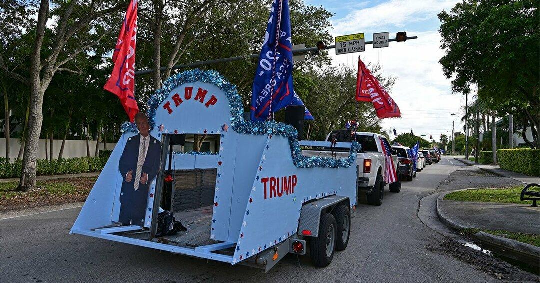 トランプ支持者の車