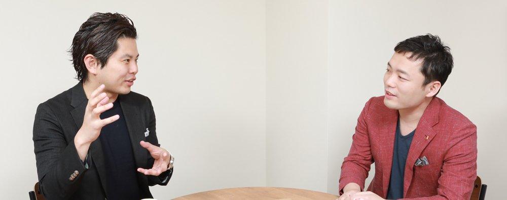 『絶対内定』シリーズの共著者でありキャリアデザインスクール・我究館の館長である熊谷智宏さんと、キャリア支援サービス「TURNING POINT」を手がけるエッグフォワード代表の徳谷智史さん