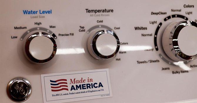 米ゼネラル・エレクトリック製の洗濯機