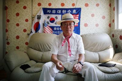 トランプ氏を支持するベトナム従軍経験者のChung Seung-jinさん