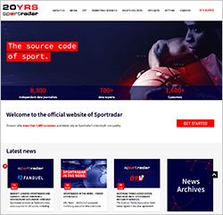 スポートレーダー(Sportradar)公式サイト
