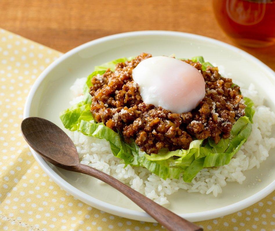 【裏ワザ料理】5分でできる!合いびき肉と玉ねぎでつくる「ハンバーグ丼」