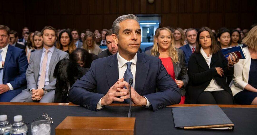 7月16日に開かれた米上院銀行委員会の写真