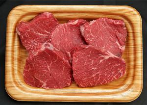 「茨城県常陸大宮市」の「瑞穂牛ももステーキセット 約550g」
