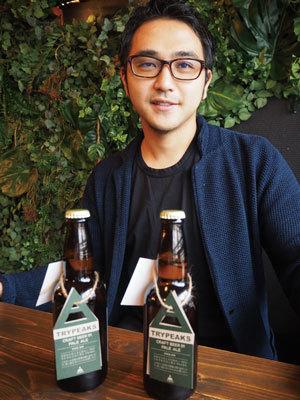 「トライピークス」の山口公大氏。挑戦をコンセプトに「ビールの味やデザインは定期的に変化させる」