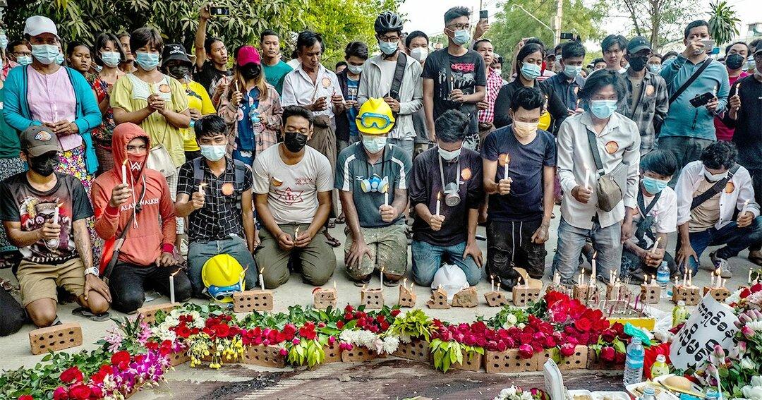 ミャンマー抗議デモ、先導する新世代