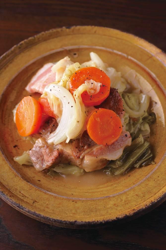 豚肉とキャベツのブレゼ