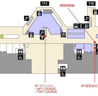 羽田空港国際線旅客ターミナルのマップ
