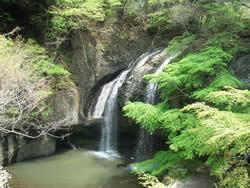 奥久慈「月待ちの滝 もみじ苑」――滝水の下でオゾンを浴び、芳しき緑の蕎麦を食す