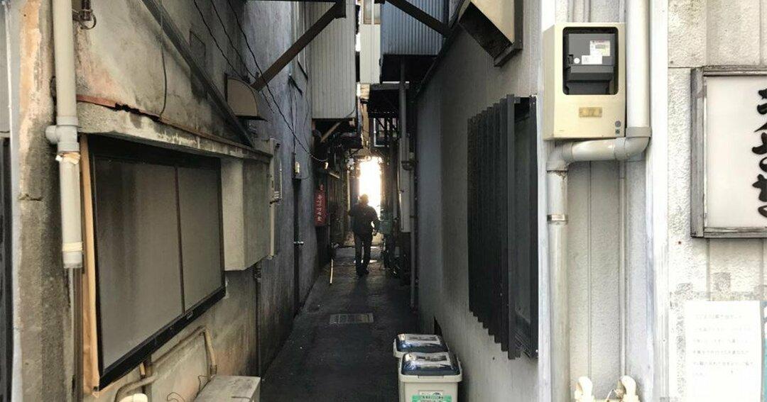 """路地は""""ノミ屋""""への玄関口"""