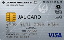 「JALカード TOKYU POINT ClubQ」のカードフェイス