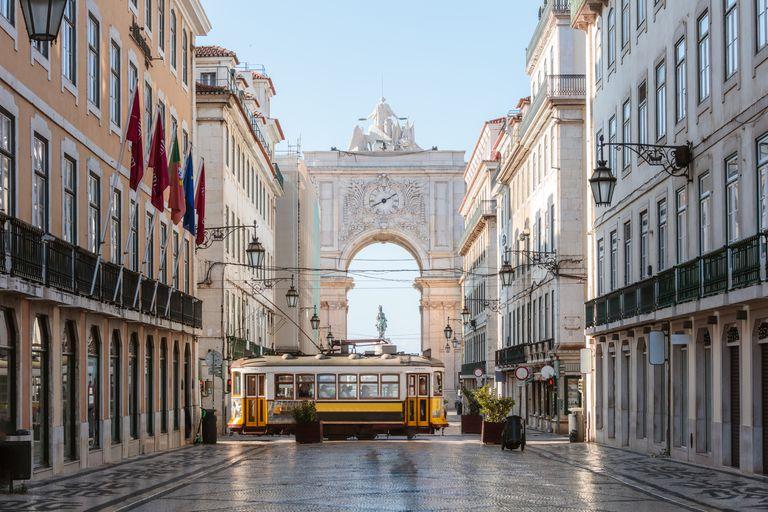 ポルトガル・リスボンのアウグスタ通り