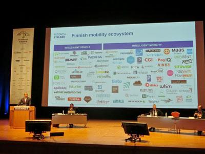 ITSアジアパシフィックフォーラムでのビジネスフィンランドの発表の様子