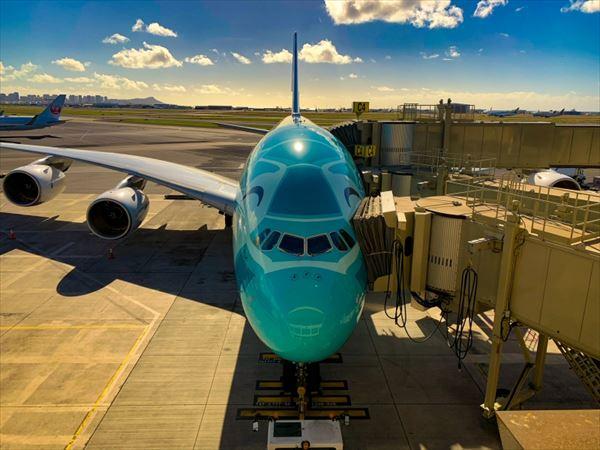 「エメラルドグリーン」のA380